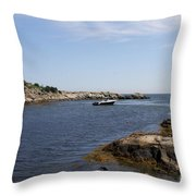 Rhode Island Seascape And House Throw Pillow