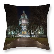 Rhode Island State House In Providence Rhode Island Throw Pillow