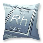 Rhodium Chemical Element Throw Pillow