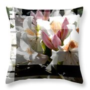 Rhododendron Collage Throw Pillow