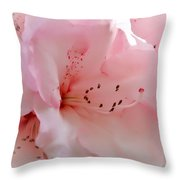 Pink Rhododendron Flower Throw Pillow