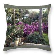 Rhododendron Garden Throw Pillow