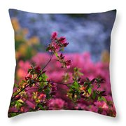 Rhododendron Pink Dream Throw Pillow