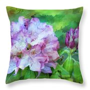 Rhododendrum Throw Pillow