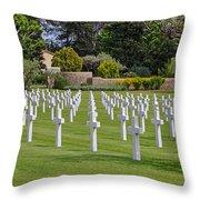 Rhone American Cemetery Throw Pillow