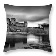 Rhuddlan Castle Throw Pillow