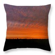 Rhymney Valley Sunrise Panorama Throw Pillow