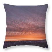 Rhymney Valley Sunrise Throw Pillow