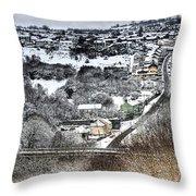 Rhymney Valley Winter 2 Throw Pillow