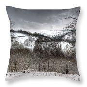 Rhymney Valley Winter 5 Throw Pillow