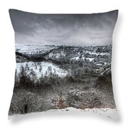 Rhymney Valley Winter 6 Throw Pillow