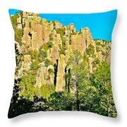 Rhyolite Columns On Ed Riggs Trail In Chiricahua National Monument-arizona Throw Pillow