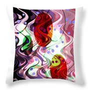 Rhythem Of Change II Throw Pillow