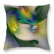 Rhythm Of Life-abstract Fractal Art Throw Pillow