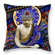Rhythm Of My Mind Throw Pillow by Christopher Beikmann