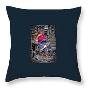 Rhythmic Reading Throw Pillow