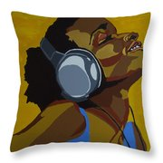 Rhythms In The Sun Throw Pillow