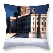 Ri State Capitol 1 Throw Pillow