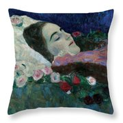Ria Munk On Her Deathbed Throw Pillow