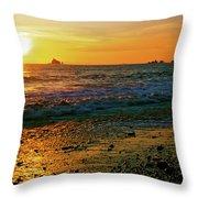 Rialto Beach Sunset Olympic National Park Throw Pillow