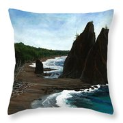 Rialto Beach Wa Throw Pillow