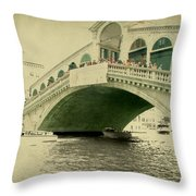 Rialto Bridge Throw Pillow