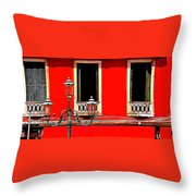 Rialto Red Throw Pillow