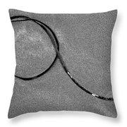 Ribbon Of The Sea Throw Pillow