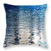 Ribbon Water Throw Pillow