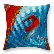 Ribbons Journey Throw Pillow by Jack Zulli