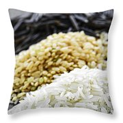 Rice Colors Throw Pillow