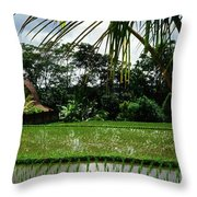 Rice Fields Bali Throw Pillow