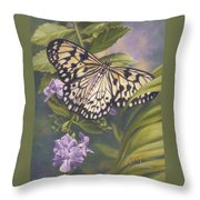 Rice Paper Butterfly Throw Pillow