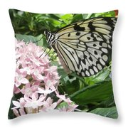 Rice Paper On Flower Throw Pillow