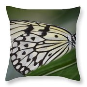 Rice Paper On Leaf Throw Pillow