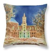 Rice Park Winter Throw Pillow
