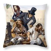Rich Couple Speak To A Pair Of Drunken Throw Pillow