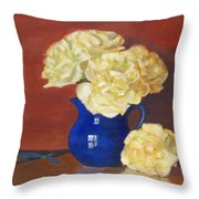 Rich Peonies Throw Pillow