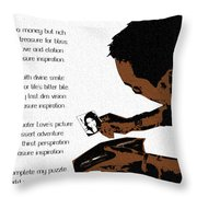 Rich Picture Poem Throw Pillow