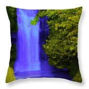 Rich Purple Wateful In The Spring Throw Pillow