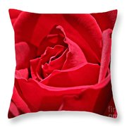 Rich Red Throw Pillow
