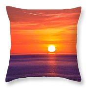 Rich Sunset Throw Pillow