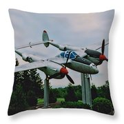 Richard Bong Memorial Throw Pillow
