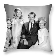 Richard Nixon And Family Throw Pillow