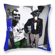 Richard Nixon Masks Uncle Sam Collage  Democratic National Convention Miami Beach Florida 1972-2008 Throw Pillow