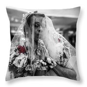 Richard Simmons Is A Blushing Bride Throw Pillow