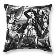 Richard Worley (c1686-1719) Throw Pillow
