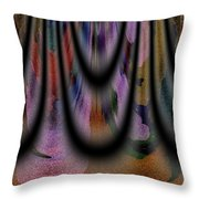 Richeness Of Curtains Throw Pillow