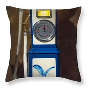 Richfield Gas Pump Throw Pillow