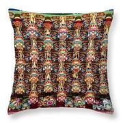Richly Decorated Temple Ceiling Throw Pillow